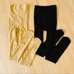 Stockings Black & Nude Pantyhose Tights